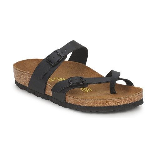 birkenstock mayari noir livraison gratuite avec chaussures mules femme 73 99. Black Bedroom Furniture Sets. Home Design Ideas
