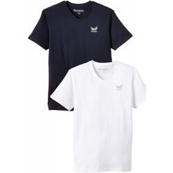 Vêtements Garçon T-shirts manches courtes Kaporal Pack de 2 T-Shirts  Bift Optic White/Navy Multicolore