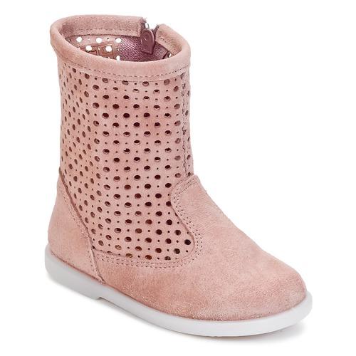 Chaussures Fille Boots Citrouille et Compagnie BOREAL Rose