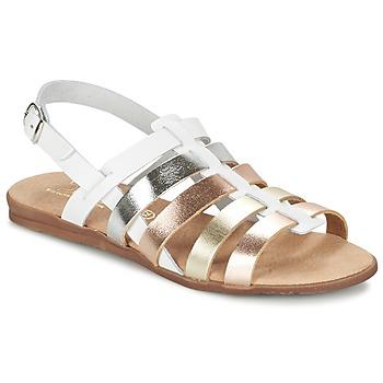 Chaussures Fille Sandales et Nu-pieds Citrouille et Compagnie PEQUEBELLO Blanc / Or