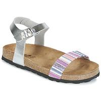 Chaussures Fille Sandales et Nu-pieds Citrouille et Compagnie IGUANA Argent / Multicolore