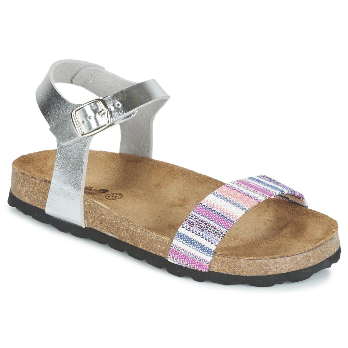 Sandale Citrouille et Compagnie IGUANA Argent / Multicolore