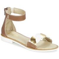 Chaussures Fille Sandales et Nu-pieds Citrouille et Compagnie MINIMAZA Camel / Or