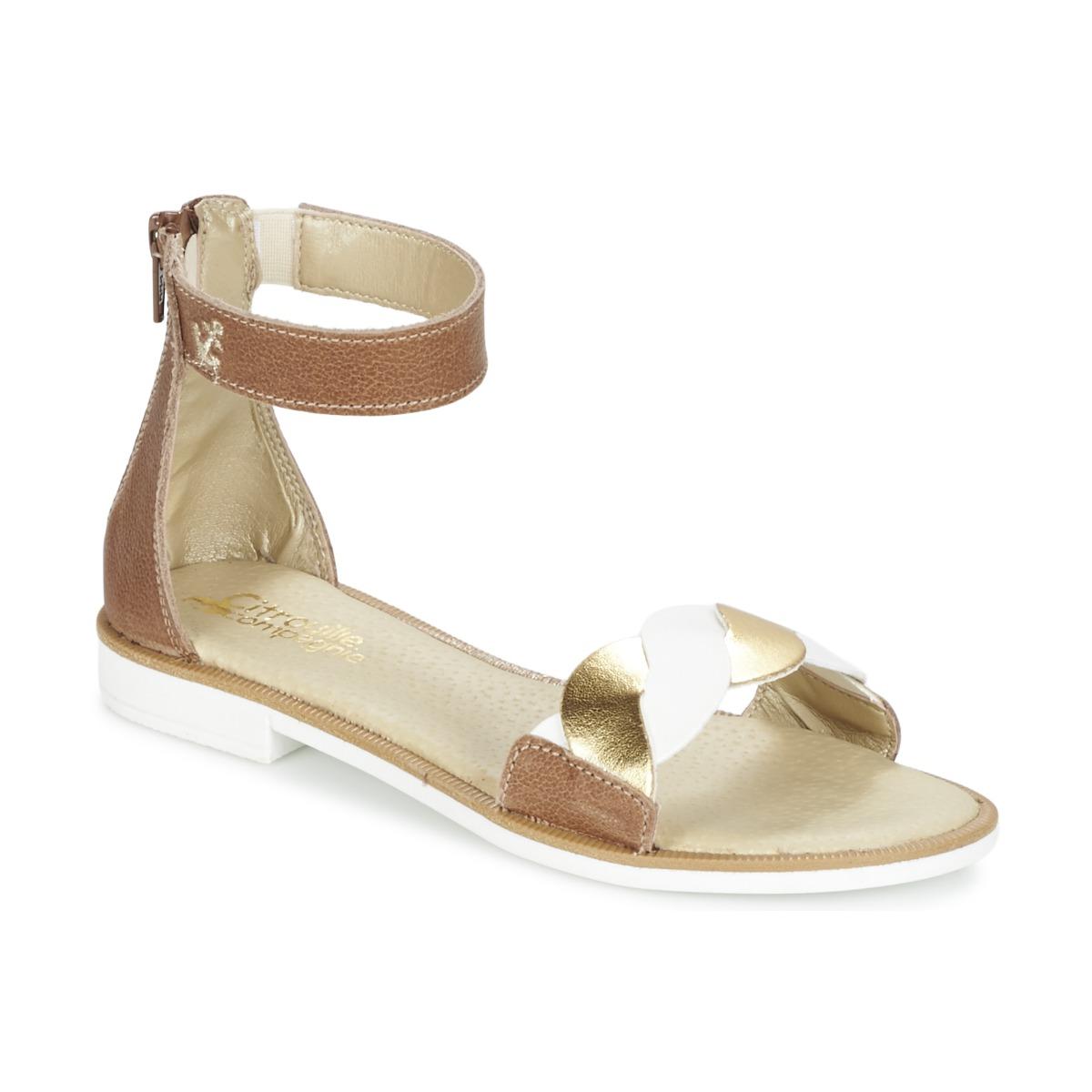 Sandale Citrouille et Compagnie MINIMAZA Camel / Or