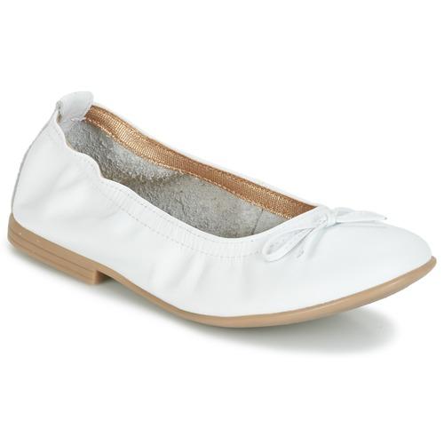 Chaussures Fille Ballerines / babies Citrouille et Compagnie JAPPALIE MOCA Blanc