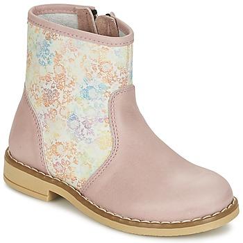 Chaussures Fille Boots Citrouille et Compagnie OUGAMO LIBERTY Rose / Flowercolor