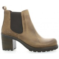 Chaussures Femme Bottines Pao Boots cuir nubuck Taupe