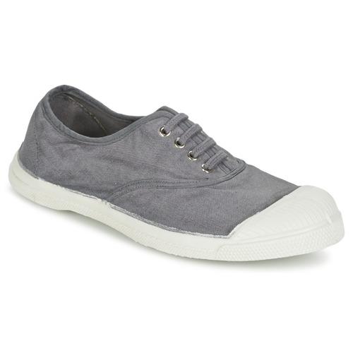 bensimon tennis lacet gris moyen livraison gratuite avec chaussures baskets. Black Bedroom Furniture Sets. Home Design Ideas
