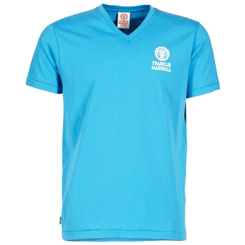 Vêtements Homme T-shirts manches courtes Franklin & Marshall DOBSON Bleu