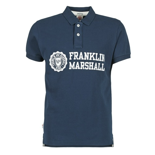 Vêtements Homme Polos manches courtes Franklin & Marshall AYLEN Marine