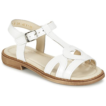 Chaussures Fille Sandales et Nu-pieds Aster TCHANIA Blanc