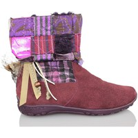Chaussures Fille Bottines Lea Lelo LEA LEO COW SUEDE GRENAT
