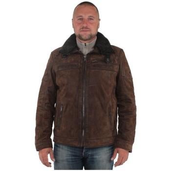 Vêtements Homme Blousons Pallas Cuir Blouson  sélection en cuir ref_don37894-marron Marron