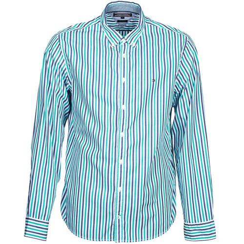 Chemises Tommy Hilfiger KELL STP NF2 Bleu / Vert 350x350