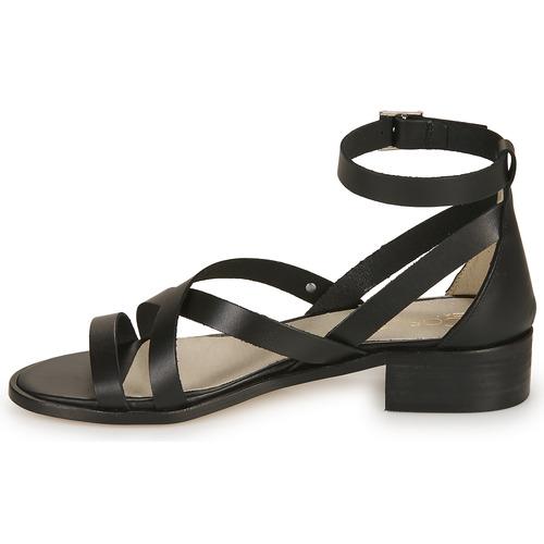 Coutil Nu Sandales Et Casual pieds Femme Noir Attitude 35ARL4j