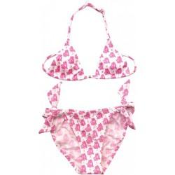 Vêtements Fille Maillots de bain 2 pièces Princesse Ilou Maillot de bain fille 2 pièces imprimé bandana Fushia