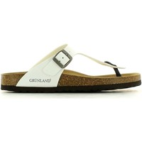 Chaussures Homme Tongs Grunland CB0014 70 Tongs Man Blanc Blanc