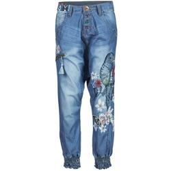 Vêtements Femme Pantalons fluides / Sarouels Desigual ANIATINE Bleu medium