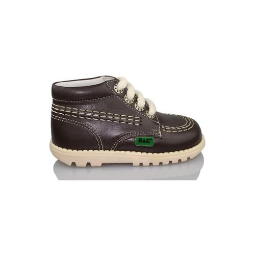 Chaussures Garçon Boots Rubio Y Castaño RUBIO Y CASTANO NAPA RALLYA NOIR