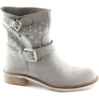 Chaussures Femme Boots Fashion Leather  Grigio