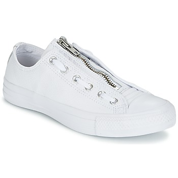 Baskets mode Converse CHUCK TAYLOR ALL STAR MA-1 ZIP MILITARY LEATHER OX Blanc 350x350