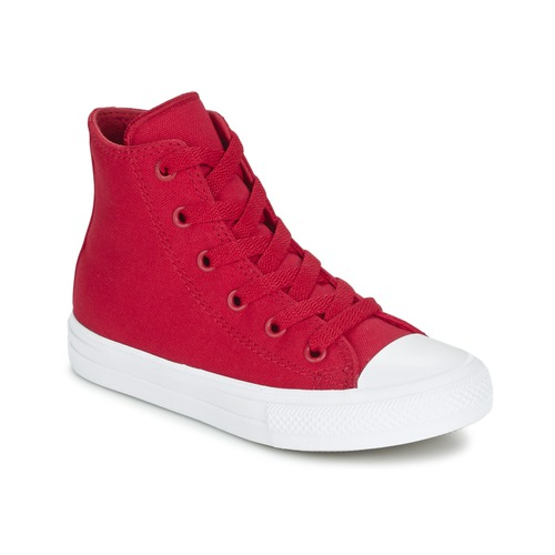 Basket montante Converse CHUCK TAYLOR ALL STAR II TENCEL CANVAS HI Rouge 350x350