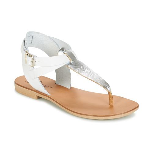 Sandale Betty London VITAMO Argent / Blanc 350x350