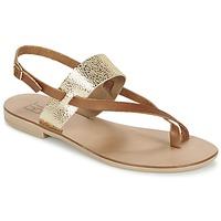 Chaussures Femme Sandales et Nu-pieds Betty London EVACI Camel / Or