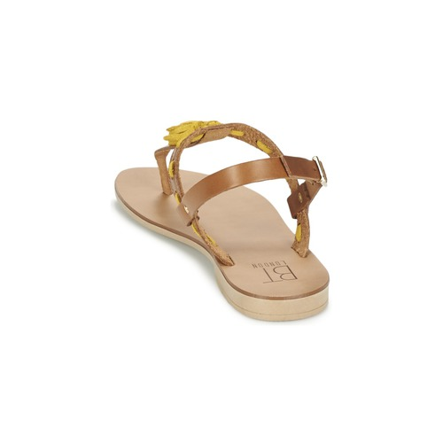Betty London Eloine Marron / Jaune - Livraison Gratuite- Chaussures Sandale Femme 2799 P07KX