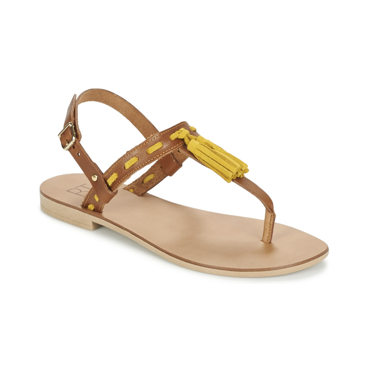 Sandale Betty London ELOINE Marron / Jaune