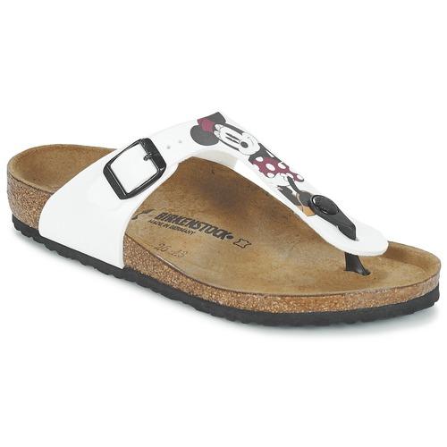Chaussures Enfant Tongs Birkenstock GIZEH Blanc / Rouge
