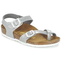 Chaussures Fille Sandales et Nu-pieds Birkenstock TAORMINA Argent