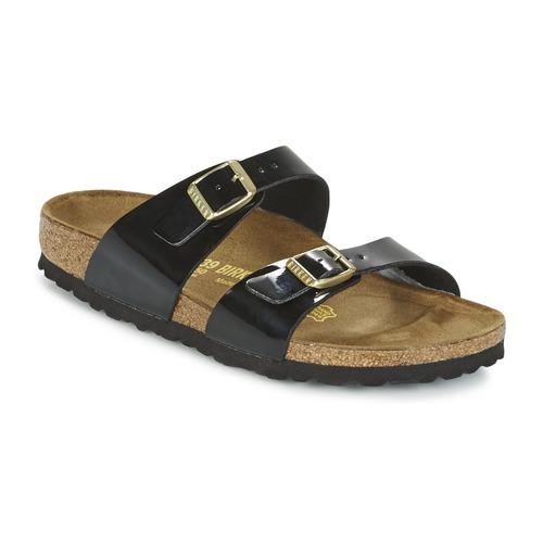 Chaussures Femme Mules Birkenstock SYDNEY Noir vernis