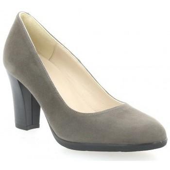 Chaussures Femme Escarpins Brenda Zaro Escarpins cuir velours Taupe