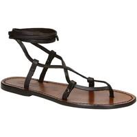 Chaussures Femme Sandales et Nu-pieds Gianluca - L'artigiano Del Cuoio 518 D MORO CUOIO Testa di Moro