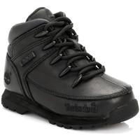 Chaussures Garçon Boots Timberland Enfant Noir Euro Sprint Bottes En Cuir Timberland_535