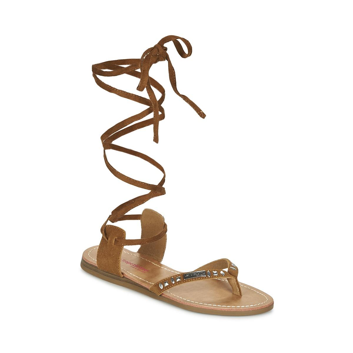 Sandale Les Tropéziennes par M Belarbi GALTANO Camel