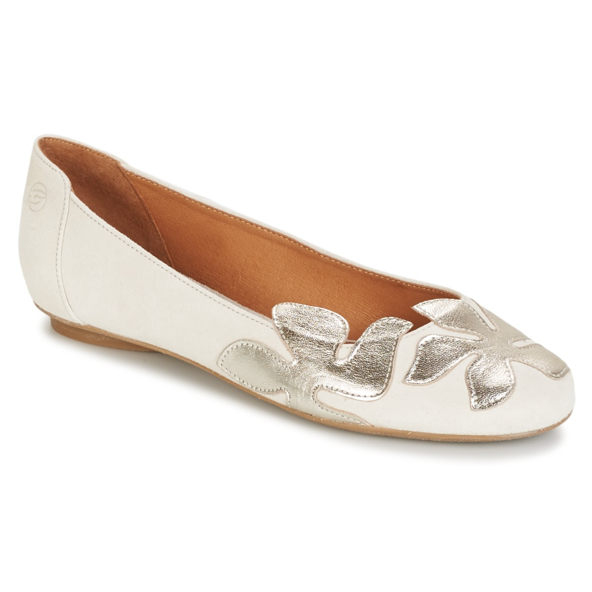 Ballerines Betty London ERUNE Blanc / Argent