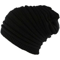 Bonnets Nyls Création Bonnet Rasta Oversize Noir Jack Nyls Creation