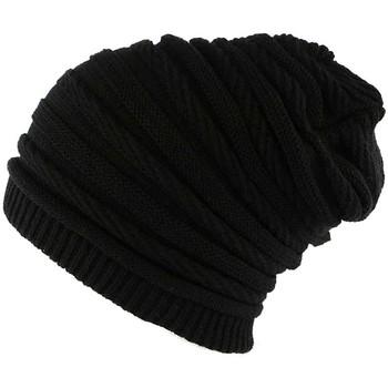 Accessoires textile Bonnets Nyls Création Bonnet Rasta Oversize Noir Jack Nyls Creation Noir