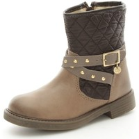 Chaussures Fille Bottines Melania 2115 Bottes et bottines Fille Taupe Taupe