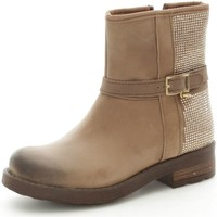 Chaussures Fille Bottines Melania 6103 Bottes et bottines Fille Taupe Taupe