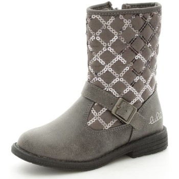 Chaussures Fille Bottines Lulu LuLù LIZ Bottes et bottines Fille Grey Grey
