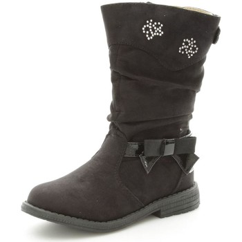 Chaussures Fille Bottines Lulu LuLù SANDY Bottes Fille Black Black