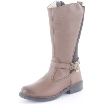 Chaussures Fille Bottes ville Melania 6060 Bottes Fille Taupe Taupe