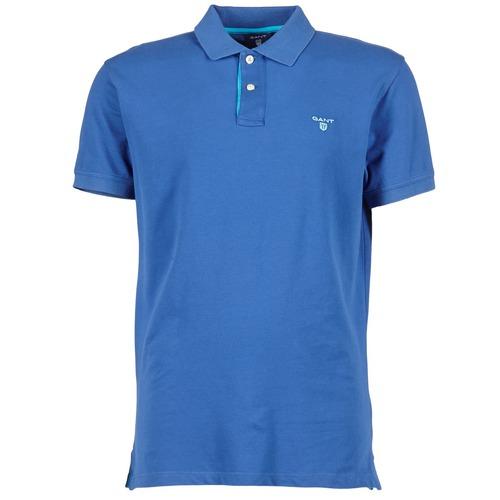 Vêtements Homme Polos manches courtes Gant CONTRAST COLLAR PIQUE Bleu