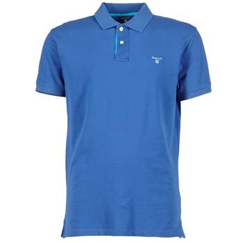 T-shirts & Polos Gant CONTRAST COLLAR PIQUE Bleu 350x350