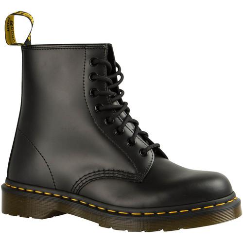 Dr Martens Chaussures Femme Hautes 1460  Noir Noir - Livraison Gratuite avec  - Chaussures Bottine Femme