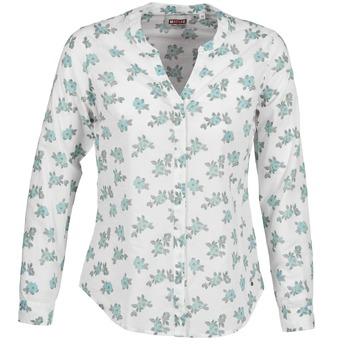 Vêtements Femme Chemises / Chemisiers Mustang FLOWER BLOUSE Blanc / Bleu