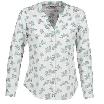 Tops & Chemises  Mustang FLOWER BLOUSE Blanc / Bleu 350x350